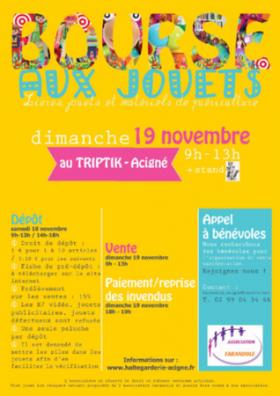 BOURSE AU JOUETS - HALTE GARDERIE FARANDOLE