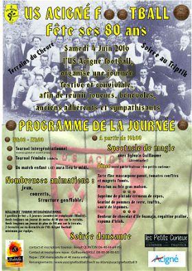 80 ANS DE L'US ACIGNE FOOTBALL