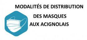 DISTRIBUTION DES MASQUES AUX ACIGNOLAIS