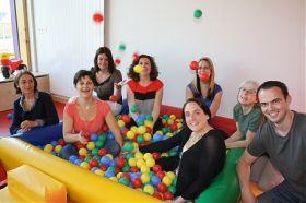 L'équipe du multiaccueil accueille les enfants dans ses nouveaux locaux depuis juin 2013.
