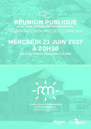 REUNION PUBLIQUE PLUi