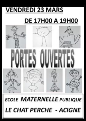PORTES OUVERTES ECOLE MATERNELLE DU CHAT PERCHE