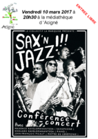 SAX'N JAZZ - Musique au rendez-vous du Sentier des Mots et la médiathèque