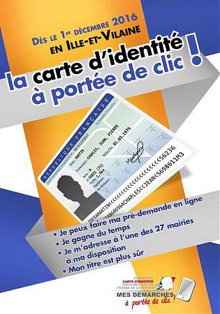 LA CARTE D'IDENTITE A PORTEE DE CLIC!